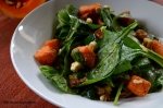 Spinach Salad with Butternut squash,feta and nuts